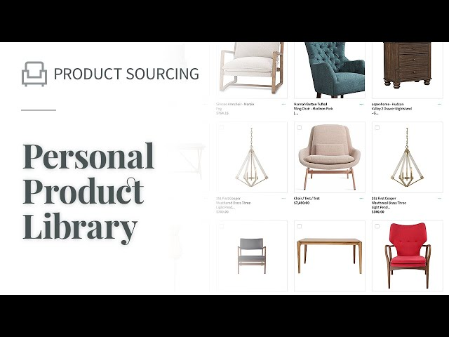 Personal Product Library
