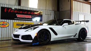 706 RWHP Hennessey ZR1 Corvette Chassis Dyno Testing