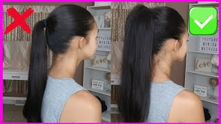 NEW HIGH PONYTAIL HAIRSTYLE FOR SCHOOL, COLLEGE, WORK, PROM   LONG PONYTAIL   TRENDING HAIRSTYLES