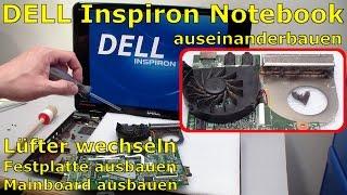 Dell Inspiron Notebook Lüfter Festplatte ausbauen