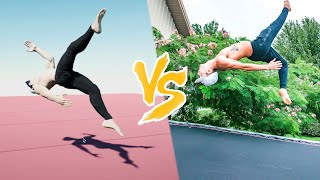 TRICKING VIDEO GAME VS REAL LIFE!