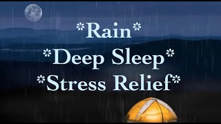 Rain Sounds~Meditation~Deep Sleep~Stress Relief~Calm~Relaxing~Yoga~Study. 10 Hours of Rain Sounds.