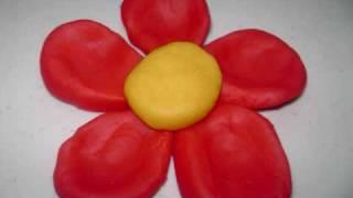 Como hacer una flor de masilla sencilla - manualidadesconninos