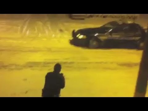 Cleveland Police in Snowball Fight