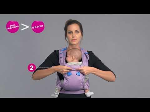 Il marsupio per bambini  Pao Papoose™ - il bambino è rivolto verso l'esterno