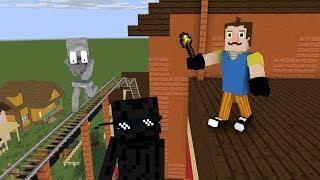 Monster School : HELLO NEIGHBOR - FIND SECRET ROOM CHALLENGE - Minecraft Animation