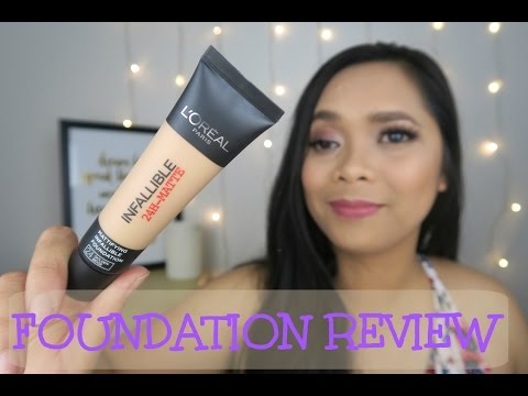 Loreal Infallible 24 Hour Matte Foundation First Impression Review| Pinay in Melbourne