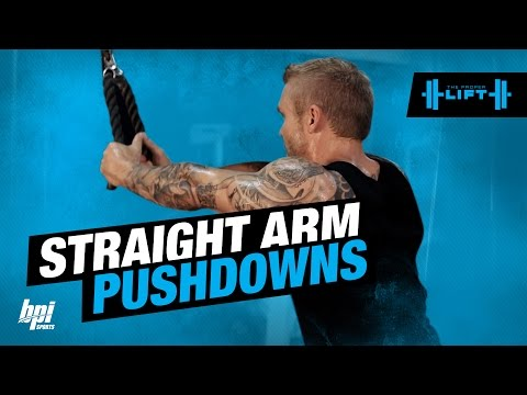 Rope Straight Arm Pull Down