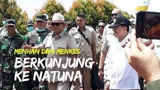 Menhan dan Menkes Berkunjung ke Natuna, Tidak Pakai Masker