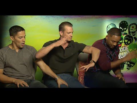 Horse bite!! Suicide Squad Interview Will Smith Jay Hernandez Joel Kinnaman