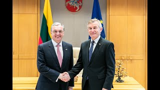Foreign Minister Zohrab Mnatsakanyan meets with Viktoras Pranckietis, the Speaker of the Seimas of the Republic of Lithuania and the members of Lithuania-Armenia friendship group