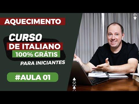 Aquecimento Curso de italiano 100% gratuito para iniciantes | Aula 01