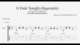It Ends Tonight TAB - Fingerstyle Guitar Tab - PDF - Guitar Pro