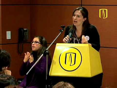 Watch videoSíndrome de Down: Natalia Ángel Cabo -Mensaje de Bienvenida