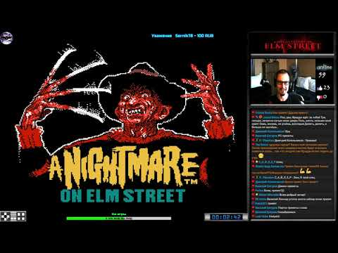 A Nightmare on Elm Street прохождение (U) | Игра на (Dendy, Nes, Famicom, 8 bit) 1990 Стрим RUS (видео)