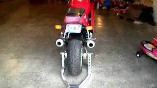 1990 Ducati 851 cold start in garage