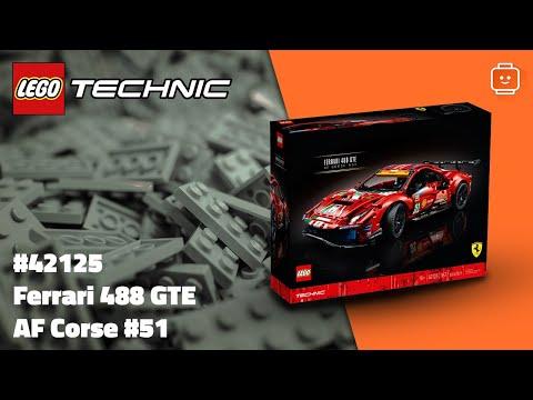 Vidéo LEGO Technic 42125 : Ferrari 488 GTE AF Corse #51