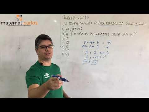Relação de Euler - Exercício 10 - Paebes Tri - 3º Ano - 2º Trimestre - E8773 Matematicarlos