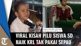 Viral Siswa SD Naik KRL Tak Pakai Sepatu, Berangkat Sekolah Jam 3 Pagi dari Kemayoran ke Depok