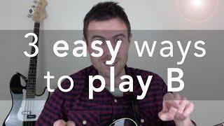 B Guitar Chord - 3 Easy Ways To Play This Tough Chord