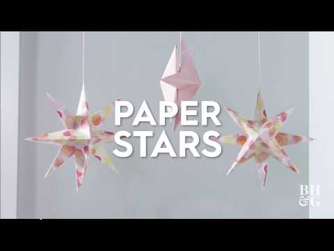 Paper Stars | Made By Me Crafts | Better Homes & Gardens