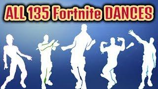 ALL 135 Fortnite Dances/Emotes [Season 1 to 7]