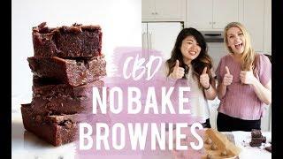 NO BAKE CBD BROWNIES (VEGAN + GLUTEN FREE)