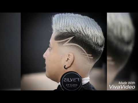 Corte de pelo para 2019 con diseño y sin diseño.