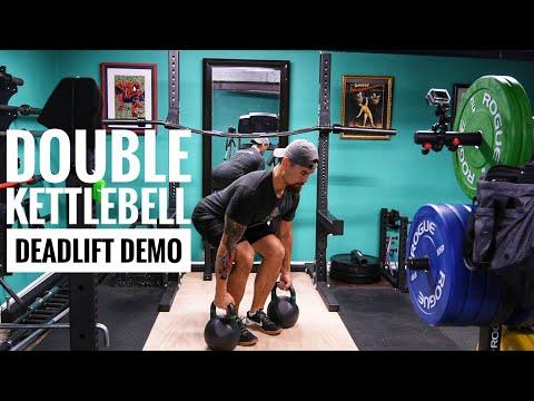 Double Kettlebell Deadlift Demo