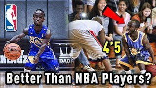 """The 4'5"""" BASKETBALL Player That Thinks He's BETTER Than NBA Players!"""
