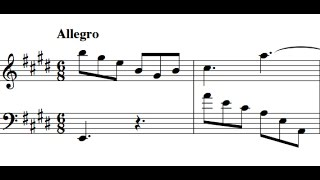 Scarlatti / Pamela Cook, 1967: Sonata in E major, L 430 / K 531