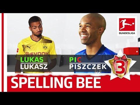 Sokratis, Piszczek, Kuba & Co. - Spelling Bee - Bundesliga 2017 Advent Calendar 3