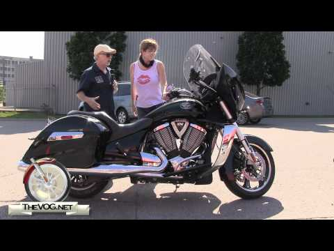 Carol Test Rides Four Victory Motorcycles - Vegas 8-Ball, Cross Roads and Two Cross Country's
