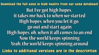 high hopes lyrics karaoke - TH-Clip