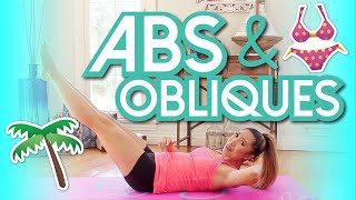 8 min Abs & Obliques Workout! Swimsuit Slimdown Series