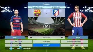 PES 2016 Gameplay Barcelona Vs Atletico Madrid 2-2 PS3 HD