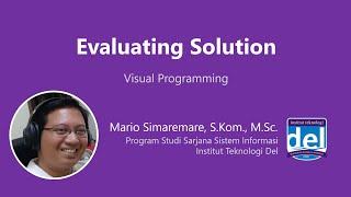 Evaluating Solution   Pemrograman Visual   Bahasa Indonesia