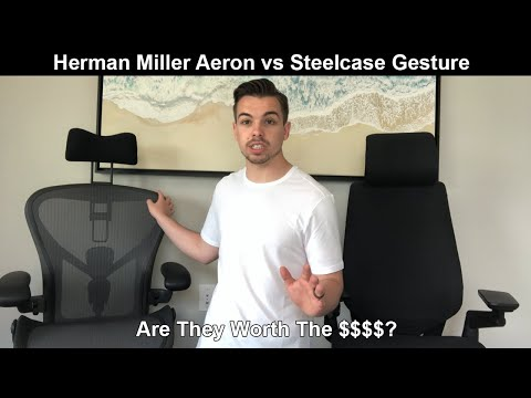 HONEST Review of 2 of the Most Expensive Office Chairs - Herman Miller Aeron vs Steelcase Gesture
