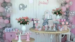 BABY SHOWER NIÑA|BABY SHOWER GIRL|2018|DECORACION|ADORNOS|IDEAS|PARTY FIESTAS