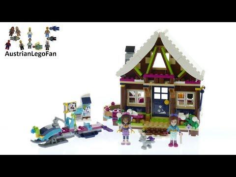 Vidéo LEGO Friends 41323 : Le chalet de la station de ski