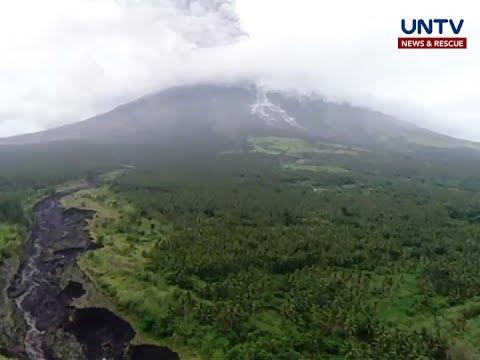 PHIVOLCS, namataan ang pagdaloy ng lahar mula sa Mt. Mayon nitong weekend