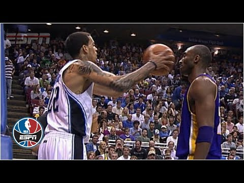 Kobe Bryant doesn't flinch when Matt Barnes fakes pass at his face. Kobe Bryant 1978-2020