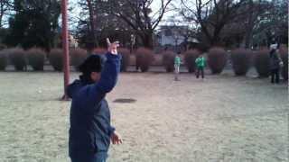 Wonderful throwing - shoehorn boomerang baseball