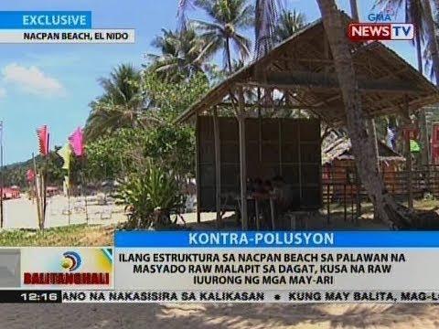 [GMA] Ilang estruktura sa Nacpan Beach sa Palawan, kusa na raw iuurong ng mga may-ari