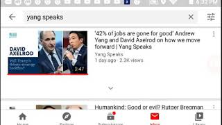 Andrew Yang - Yang Speaks Review/UBI Social Media