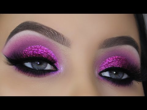 Classic Purple Glitter Makeup Tutorial