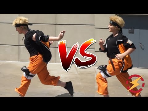 Does The Naruto Run Make You Faster?? (Tested With Cosplayers, Surprising Result!!!)