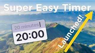 Super Easy Timer - Launched on Mac App Store - Full Screen Countdown