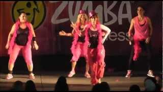 """Zumba® fitness with Stacy Shani - """"cha cha chelo"""" - Party in Pink Israel, Jan. 2013"""