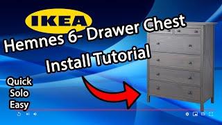 Ikea Hemnes 6- Drawer Chest Install Tutorial